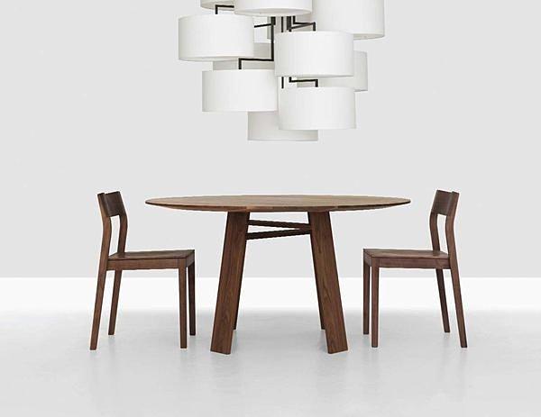 堤拉 铁脚原木圆桌,原木餐桌